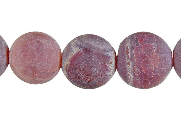 Matta Fire Agate Round (Red) Beads