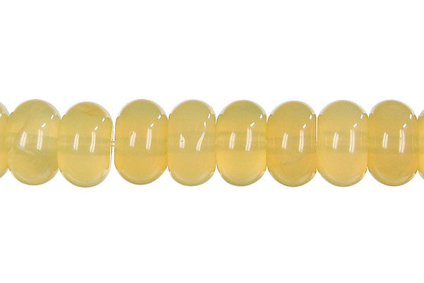 Yellow Opal Rondelle (Light A) Beads