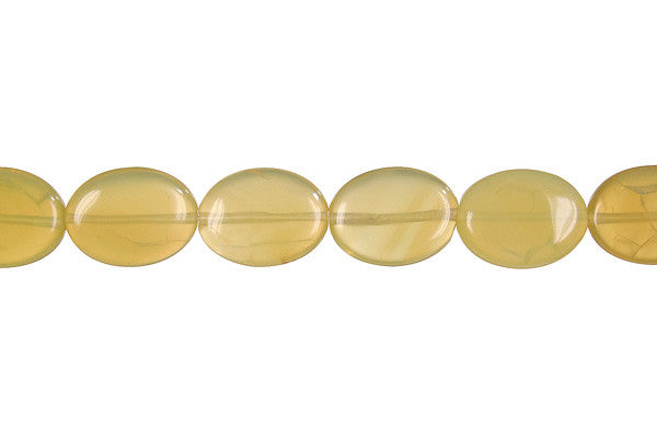 Yellow Opal Flat Oval (Light A) Beads