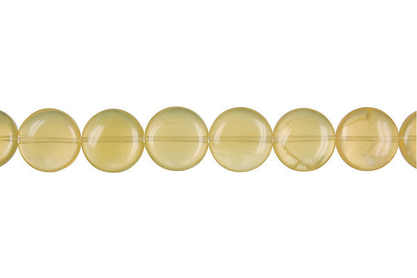 Yellow Opal Button (Light A) Beads