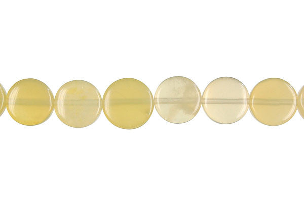 Yellow Opal Coin (Light A) Beads