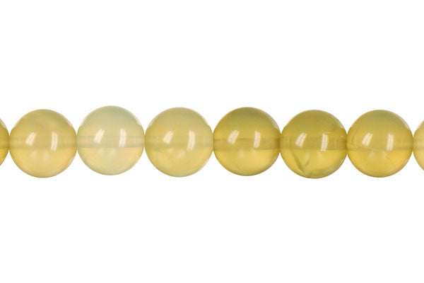 Yellow Opal Round (Light A) Beads