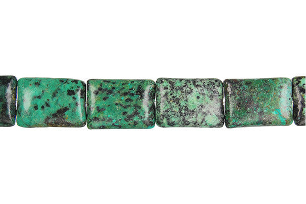 African Turquoise (Dark) Flat Rectangle (Dark) Beads