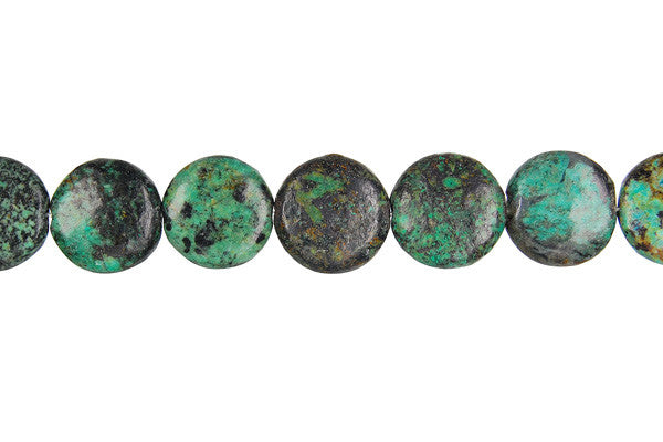 African Turquoise (Dark) Coin Beads