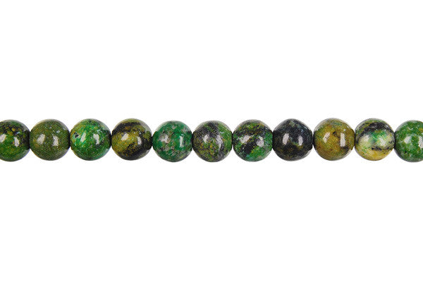 Yellow and Green Turquoise Round Beads