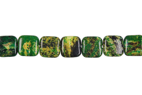 Yellow and Green Turquoise Square Beads