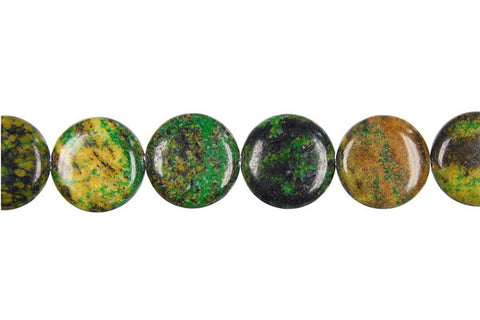 Yellow and Green Turquoise Coin Beads