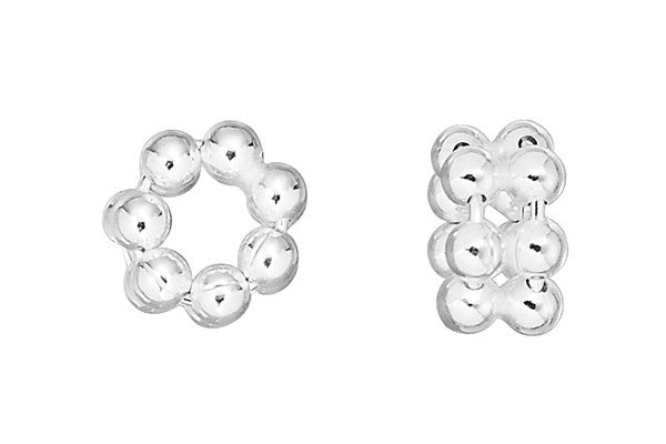 Sterling Silver Septa Double Daisy Spacer, 6.0x4.0mm