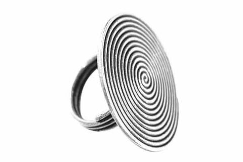 Hill Tribe Silver Ethnic Swirl Ring, 32.0mm, Size 7