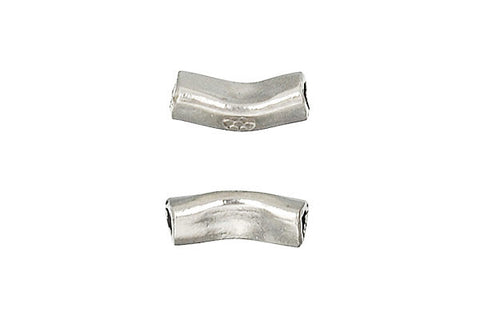 Hill Tribe Silver Hammered Tube, 10.0x4.0mm