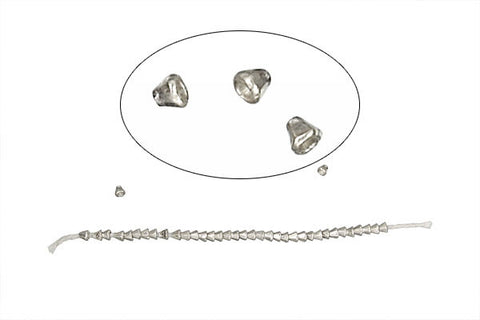 Hill Tribe Silver Cone Shape Bead Spacer, 1.8x1.5mm