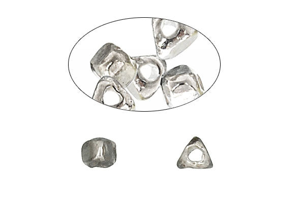 Hill Tribe Silver Triangular Nugget, 4.0x3.0mm