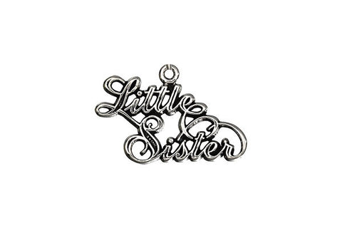 Sterling Silver Little Sister Charm, 15.0x23.0mm