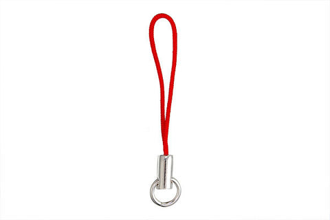 Sterling Silver Mobile Phone Extention Cord, Red, 2""