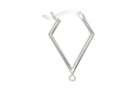 Sterling Silver 20.0mm Kite w/Ring, 1.6x20.0mm