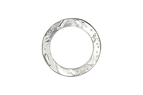 Sterling Silver Flat Textured Link, 21.5mm