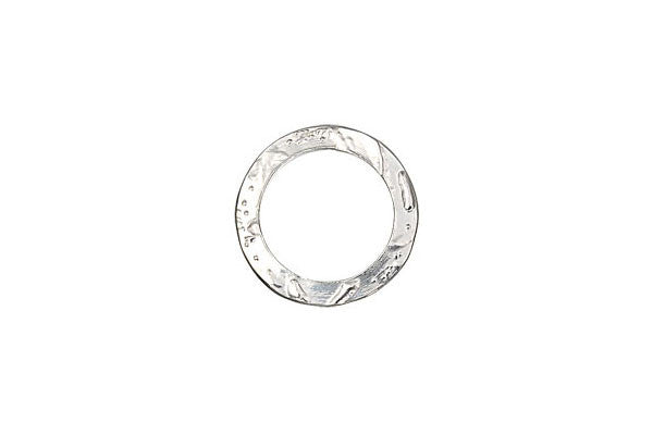 Sterling Silver Flat Textured Link, 14.5mm