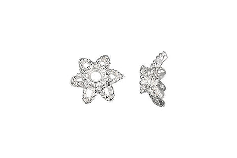 Sterling Silver Star Bead Cap, 7.0mm