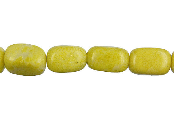Lemon Jade Smooth Nugget Beads