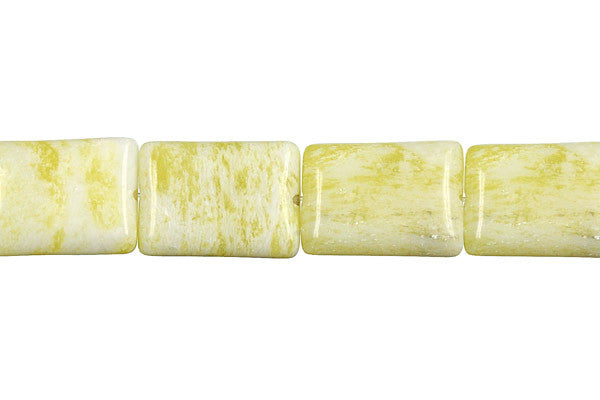 Lemon Jade Flat Rectangle Beads