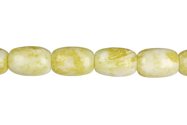 Lemon Jade Drum Beads