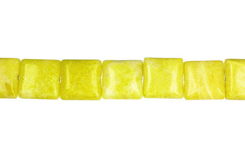 Lemon Jade Flat Square (A) Beads