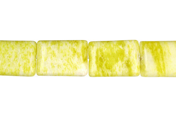 Lemon Jade Flat Rectangle (A) Beads