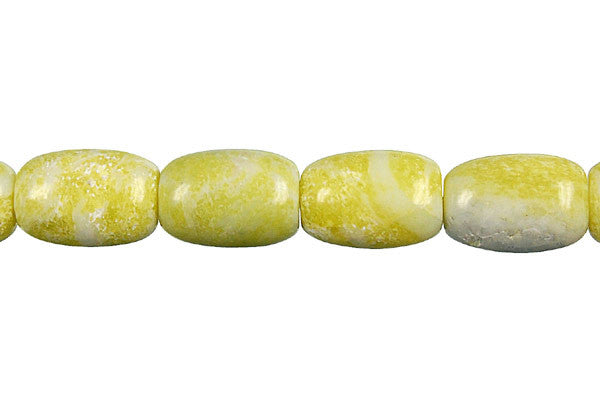Lemon Jade Drum (A) Beads