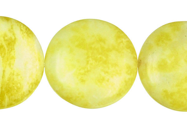 Lemon Jade Coin (A) Beads