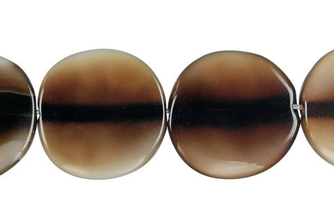 Opalite Onyx Coin Beads