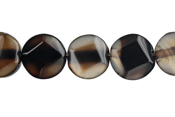 Opalite Onyx Coin (Diamond) Beads