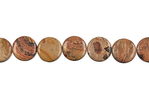 New Picture Jasper Coin Beads
