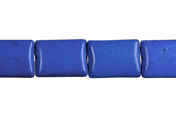Lapis (Dyed) Flat Rectangle Beads