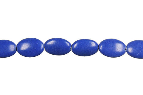 Lapis (Dyed) Flat Oval Beads