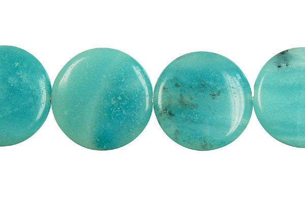 Amazonite Coin (Dark) Beads