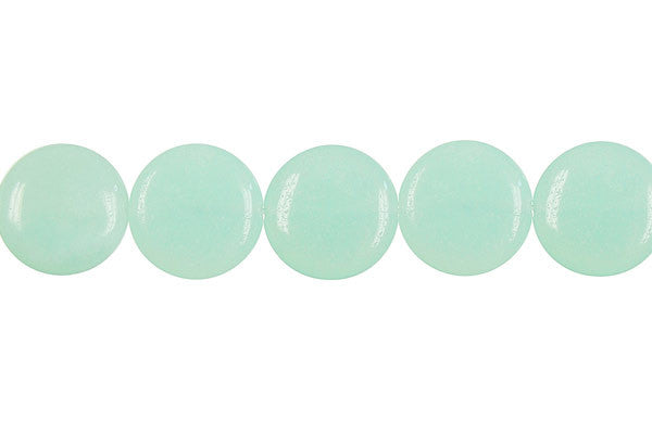 Amazonite Coin (Light) Beads