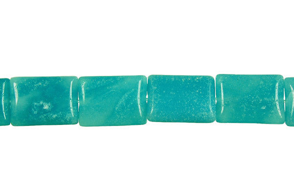 Amazonite Flat Rectangle (Dark) Beads