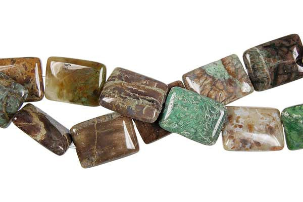 African Onyx Flat Rectangle Beads