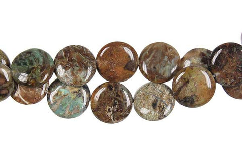 African Onyx Coin Beads