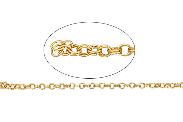 Gold-Filled Double Cable Chain, 1.5x2.0mm