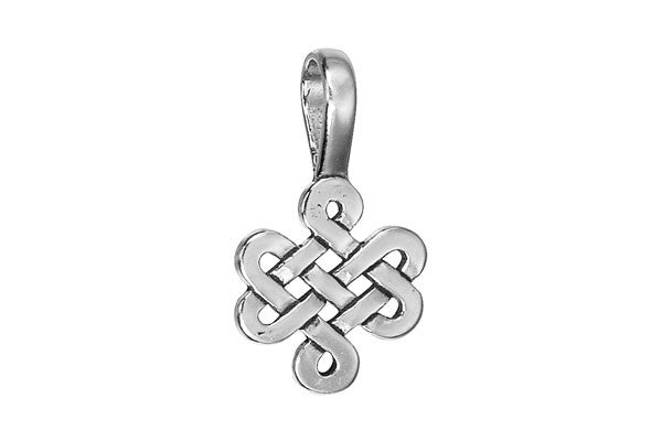 Sterling Silver Celtic Knot Religious Charm, 27.0x16.0mm