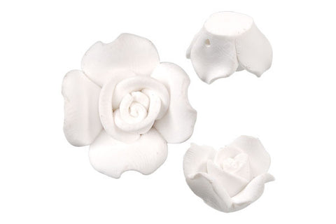 Pendant Poly Clay Flower (White 406)