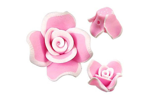 Pendant Poly Clay Flower (Pink 406)