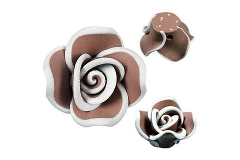 Pendant Poly Clay Flower (Brown 406)