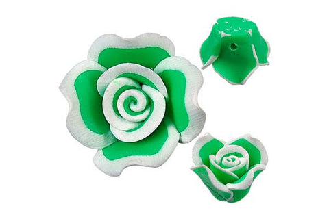 Pendant Poly Clay Flower (Green 406)