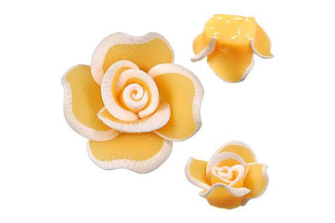 Pendant Poly Clay Flower (Yellow 406)