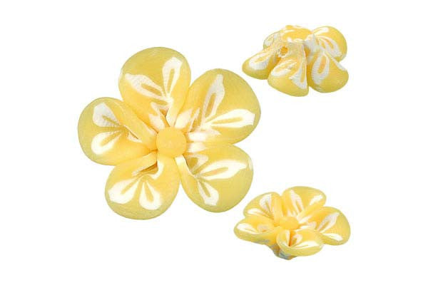 Pendant Poly Clay Flower (Yellow 106)