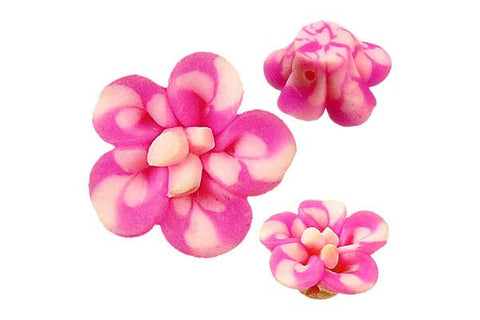 Pendant Poly Clay Flower (Hot Pink 108)