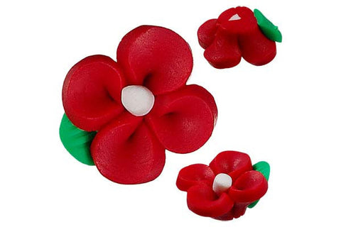 Pendant Poly Clay Flower (Red 107)