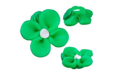 Pendant Poly Clay Flower (Green 107)